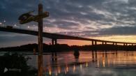 sunrise foyle bridge (1 of 1)